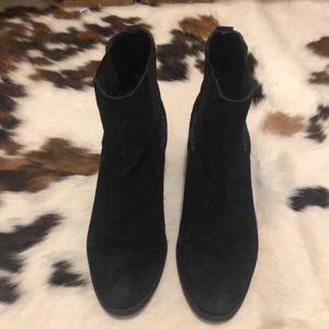 Black suede Sam Edelman booties